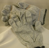 Grey Knit Gloves High Density 1 Dozen